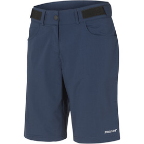 Ziener Pirka X-Function fietsbroek kort Dames, antique blue